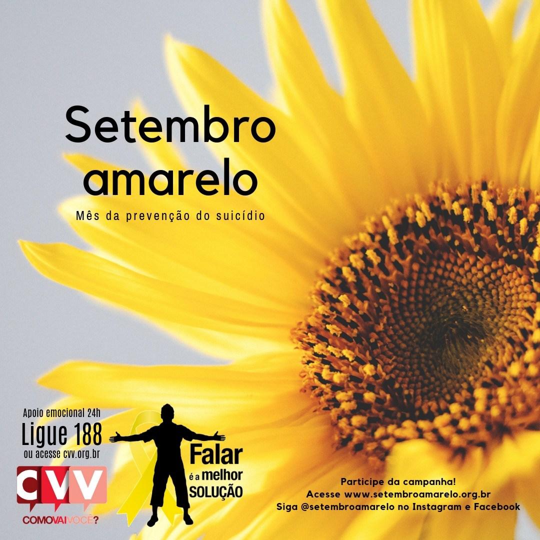 CVV lança mais uma edição do Setembro Amarelo