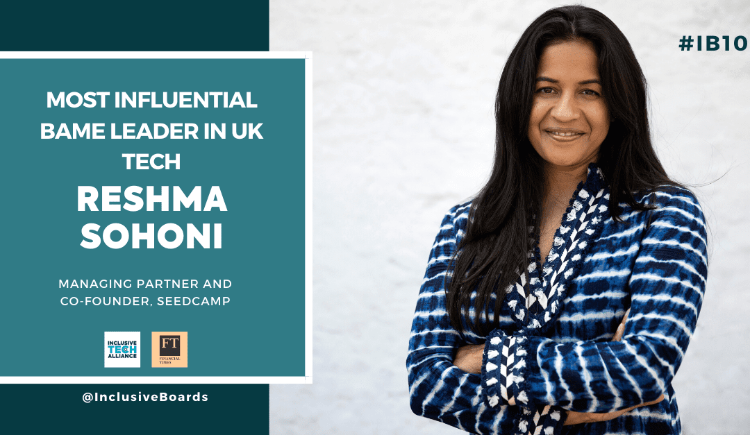 Reshma Sohoni named most influential BAME leader in Tech