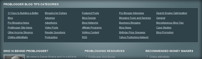 Problogger Footer Categories 10 Design Elements All Big Blogs Have In Common