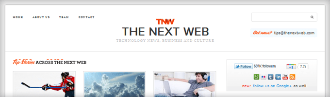 TheNextWeb Search Box 10 Design Elements All Big Blogs Have In Common