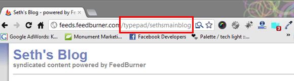 SethsMainBlog Feedburner
