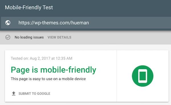 Mobile Friendly Test Result