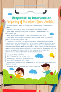 Response to intervention checklist