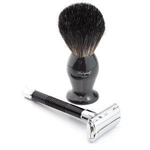 Haryali Razor and Badger hairBrush