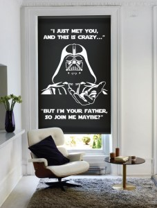 Darth Vader window blind image