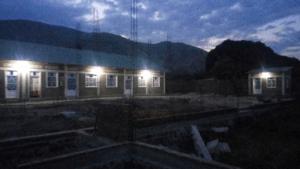 panoramica notturna dopo l'allacciamento corrente elettrica