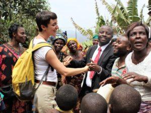 Angela stagista Incontro fra i Popoli in Congo