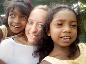 Patrizia stagista di Incontro fra i Popoli in Sri Lanka