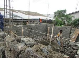 Costruzione della scuola per la professione edile a Goma