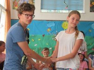 Due ragazzi partecipanti alla Settimana Giovani Romania
