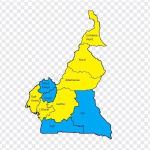 Carta Camerun Regioni