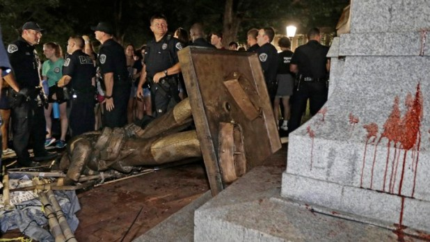 Terorism Cultural - Monumentul Soldatului Confederat DARÂMAT