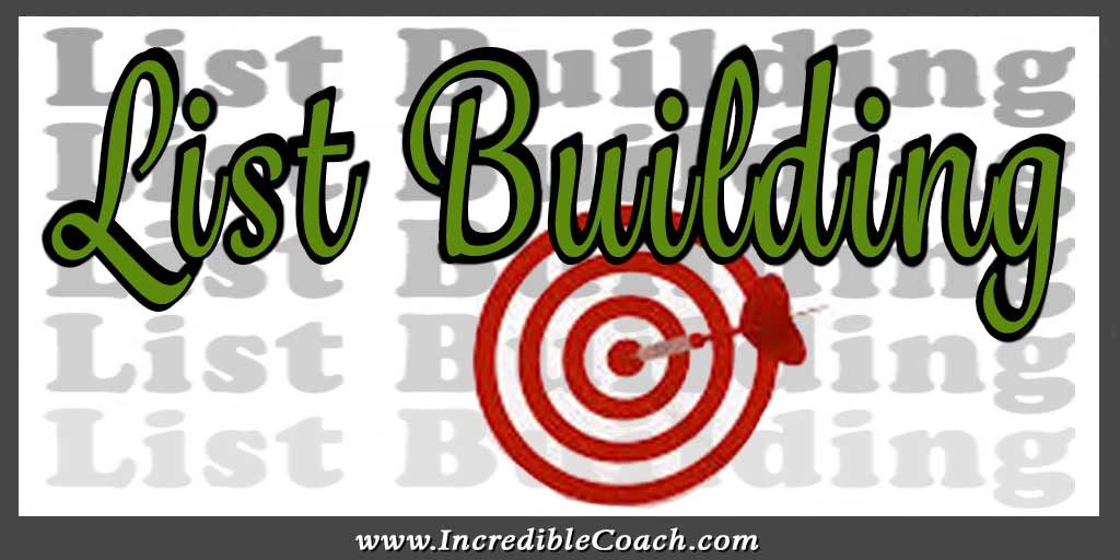 list building for coaches and consultants