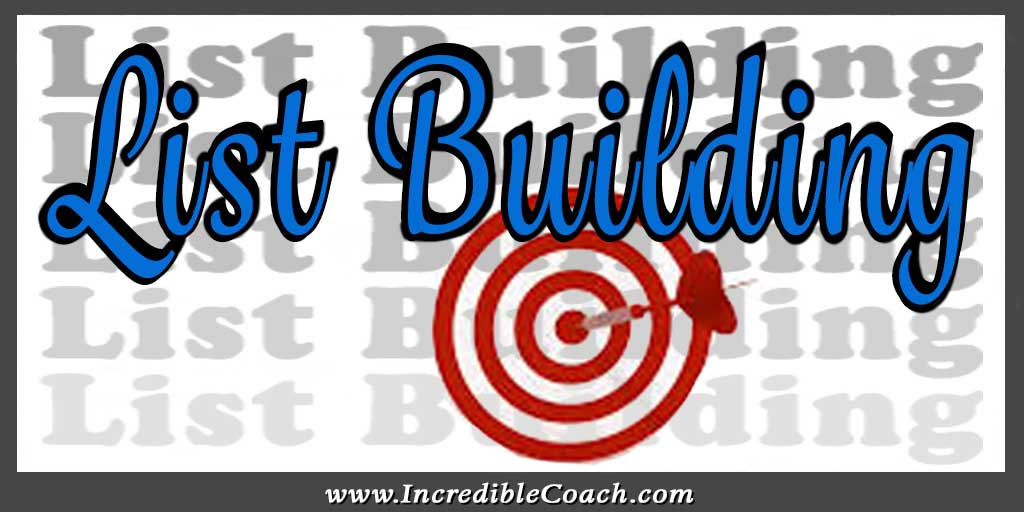 listbuilding for coaches