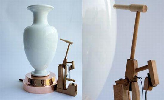 sevres vase clock