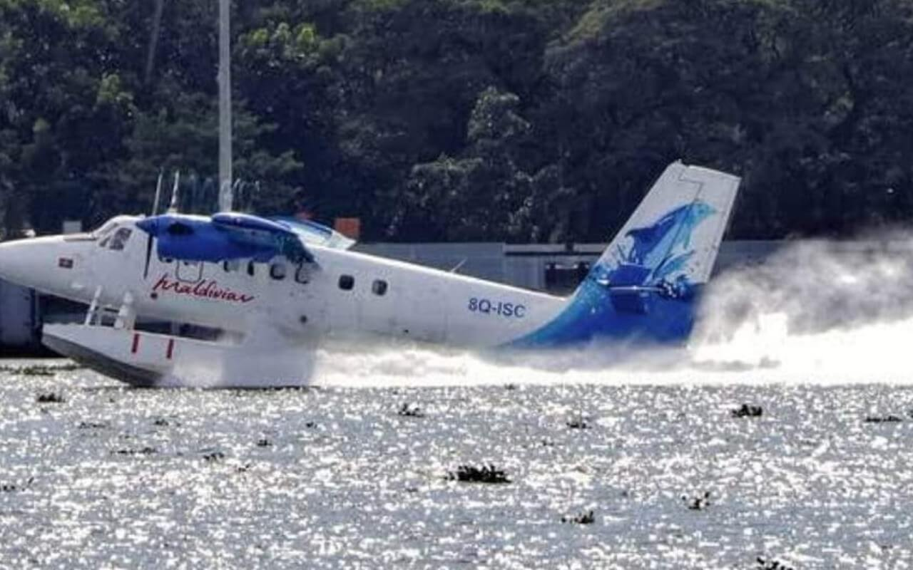 Seaplane Landing in River Mandovi