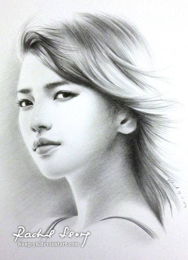 Sad Girl Sketch Wallpaper Beautiful Pencil Drawings By Leong Hong Yu Incredible Snaps