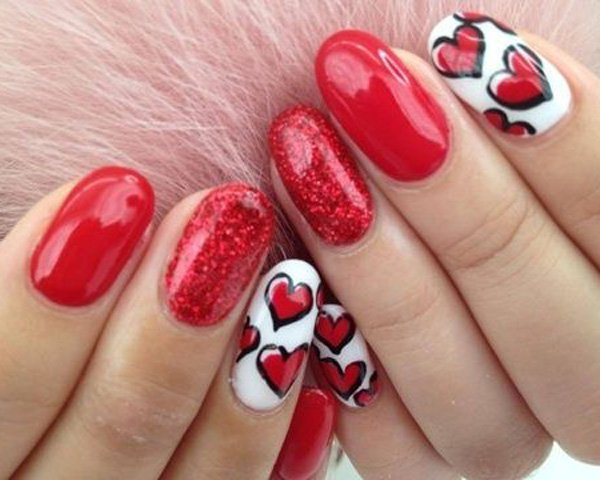 Valentines Day Nail Art 9