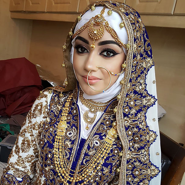 Gorgeous Brides Wearing Hijabs On Their Wedding Day Look