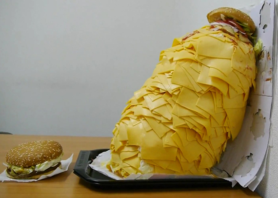 Dangerously Cheesy Whopper With 1000 Slices Of Cheese