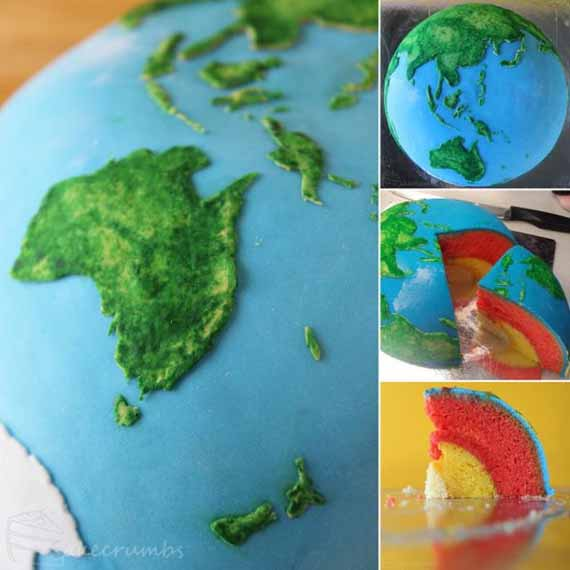 Earth Cake With Layers Interior