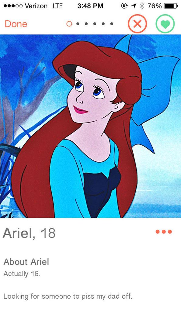 If Disney Princesses Had Tinder