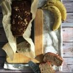 Banana bread con burro d'arachidi