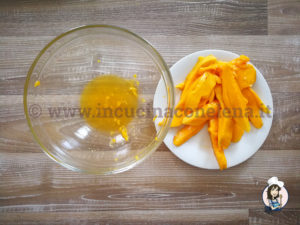 Rotolo di Meringa al Mango