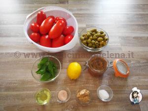 Crostata ai pomodori, olive e acciughe