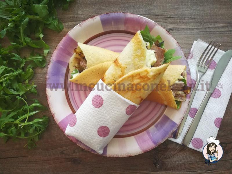 Wrap di tacchino e zucchine grigliate