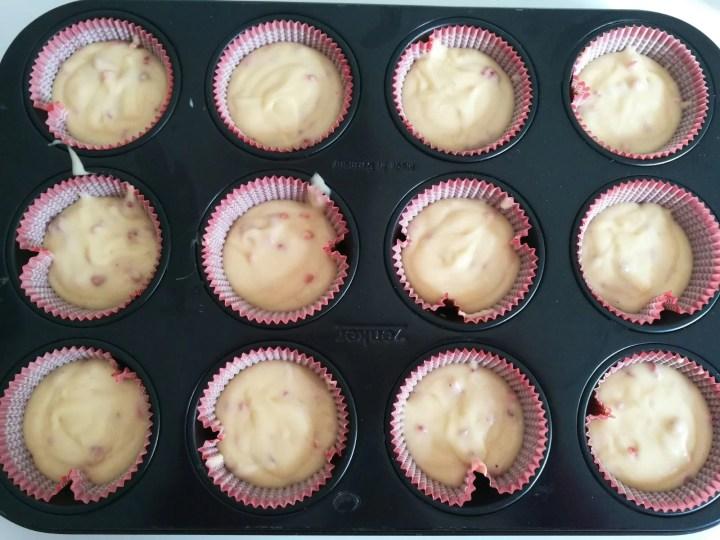 Cupcake cuore di fragole