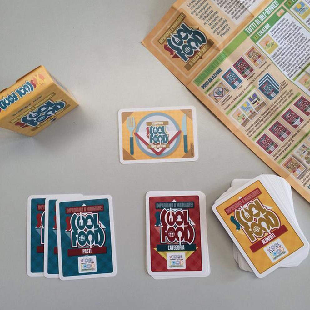Indaco2 Scool Food Il Gioco Di Carte