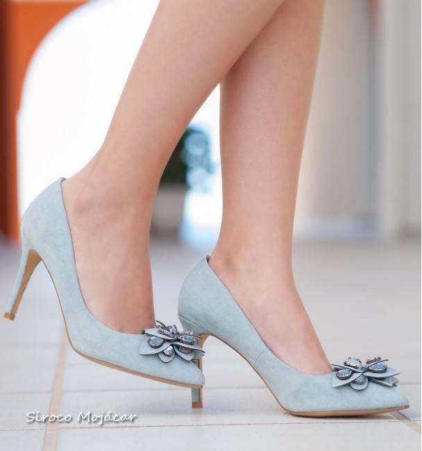 Zapatos de fiesta Paris Celeste  Siroco Mojacar