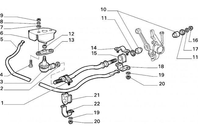 Braccio oscillante posteriore sinistro FIAT Bravo / ALFA