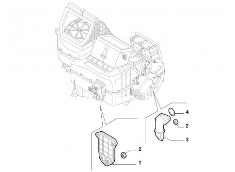 Radiatore riscaldamento FIAT Idea 2003-2012 Punto 1999