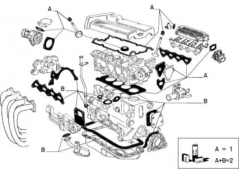 Guarnizioni Valvole Originali FIAT Croma 1990-1996 Tipo