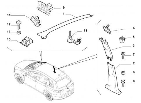 Pannello rivestimento interno portiera sinistra FIAT Punto