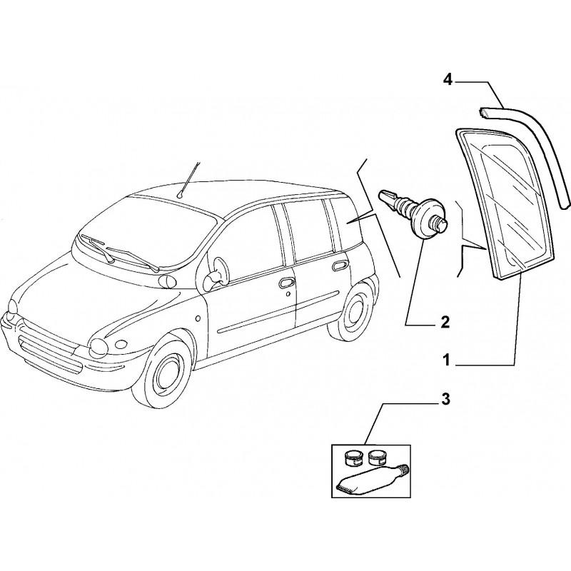 Cristallo atermico posteriore sinistro FIAT Multipla
