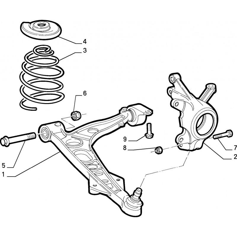 Montante sospensione anteriore sinistra FIAT Punto GT