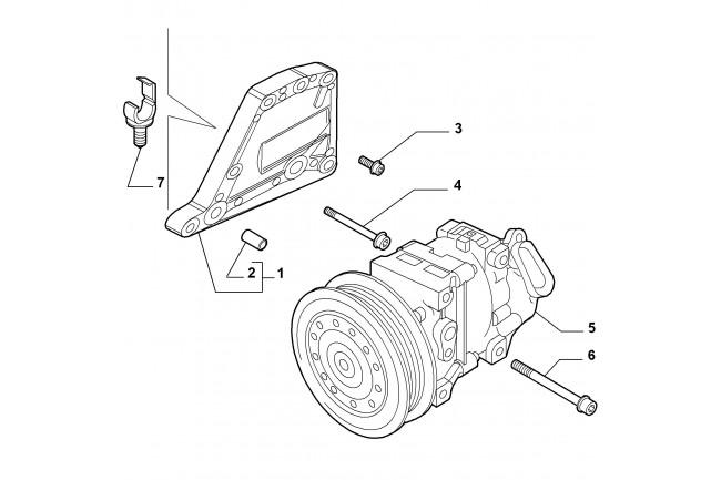 Supporto compressore condizionatore FIAT Grande Punto