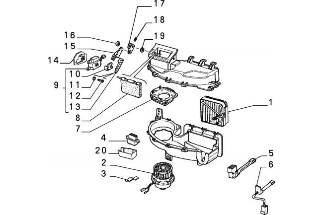 Motorino elettrico per riscaldamento e ventilazione FIAT