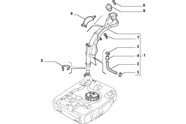 Tubo introduzione combustibile serbatoio FIAT Multipla