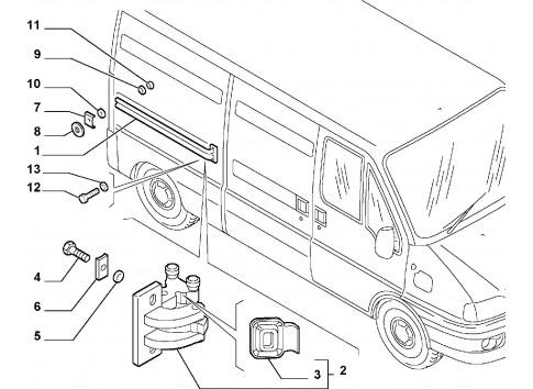 Dispositivo regolazione porta scorrevole destra FIAT