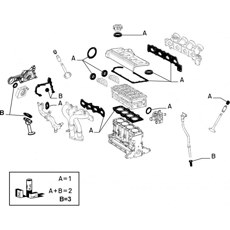 Guarnizione basamento FIAT Barchetta / Punto / Stilo