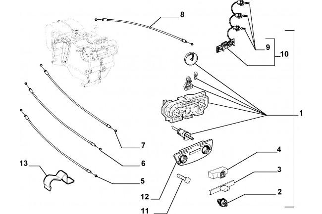 Comando Flessibile FIAT Palio 1997/2002 Siena 1997/2002