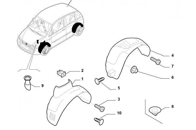 Riparo Sinistro FIAT Idea 2003/2012 Lancia Musa 2004/2012