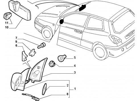 Mostrina Vetro fisso anteriore sinistro FIAT Multipla