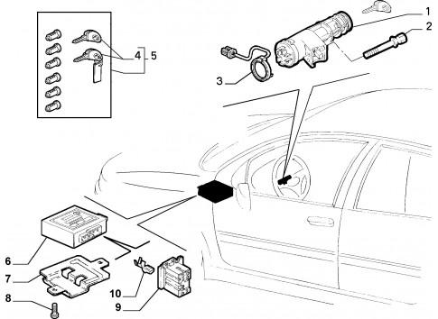 Commutatore accensione / Blocca sterzo antifurto FIAT