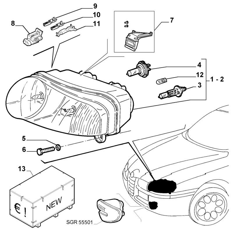Dispositivo regolazione Fari FIAT Stilo 2001/2007 ALFA 147