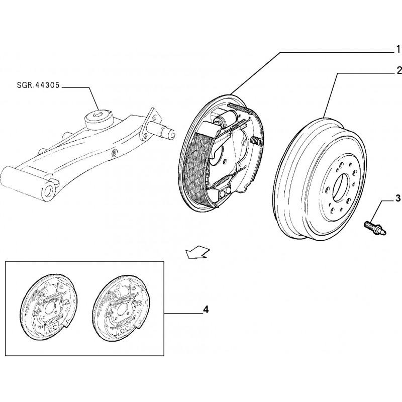 Kit cilindreatti FIAT Idea 2003/2012 Panda 2003/2010 Punto